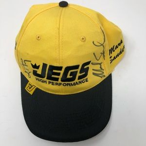 Jegs    Hat Yellow High Autographed Racing cap